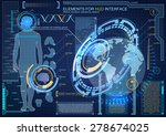 elements for hud interface.high ... | Shutterstock .eps vector #278674025