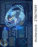 elements for hud interface.high ... | Shutterstock .eps vector #278674049