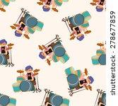 band member drummer  cartoon... | Shutterstock .eps vector #278677859