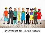 children kids dream jobs... | Shutterstock . vector #278678501