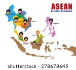 map of asean  asia  south east... | Shutterstock .eps vector #278678645