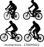 bicyclist silhouette collection ... | Shutterstock .eps vector #278690021