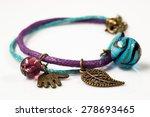 macro of handmade bracelet made ... | Shutterstock . vector #278693465