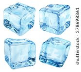 set of four opaque ice cubes in ... | Shutterstock .eps vector #278698361