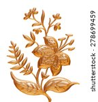 ornament of gold plated vintage ... | Shutterstock . vector #278699459