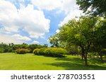 green trees in beautiful park | Shutterstock . vector #278703551
