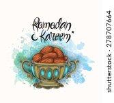 islamic holy month of prayers ...   Shutterstock .eps vector #278707664