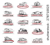 set of fifteen car icons | Shutterstock .eps vector #278710025