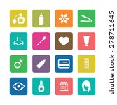 beauty salon icons universal... | Shutterstock .eps vector #278711645