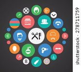 barbershop icons universal set... | Shutterstock .eps vector #278711759