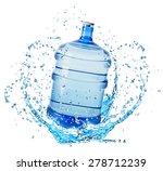 big water bottle in water... | Shutterstock . vector #278712239