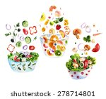 isolated background set with... | Shutterstock . vector #278714801