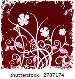 floral design with grunge border | Shutterstock .eps vector #2787174