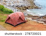 Camping Tent In Camping Site O...