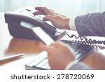 businessman dialing voip phone... | Shutterstock . vector #278720069