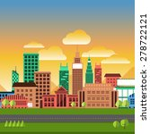 flat design concept city... | Shutterstock .eps vector #278722121