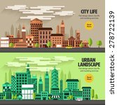 flat design concept city... | Shutterstock .eps vector #278722139