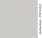 Black seamless wavy line pattern vector illustration | Shutterstock vector #278724215