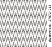 black seamless wavy line... | Shutterstock .eps vector #278724215