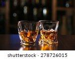 glasses of whiskey on bar... | Shutterstock . vector #278726015