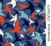 silhouette of the bird pattern | Shutterstock .eps vector #278726375