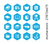 books icons universal set for... | Shutterstock .eps vector #278726675