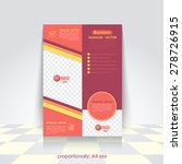 vector business a4 flyer ... | Shutterstock .eps vector #278726915