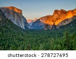 Yosemite Valley At Sunset From...