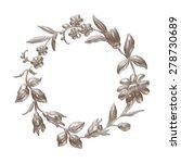 floral or botanical christmas... | Shutterstock . vector #278730689