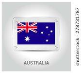 vector australia flag glass... | Shutterstock .eps vector #278731787