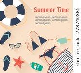 summertime traveling template... | Shutterstock .eps vector #278740385