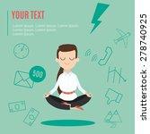 businesswoman thinking during... | Shutterstock .eps vector #278740925