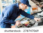 portrait of a mechanic at work... | Shutterstock . vector #278747069