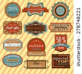 collection of vintage retro... | Shutterstock .eps vector #278748221