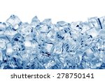 ice cubes isolated on white... | Shutterstock . vector #278750141