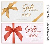 voucher template with floral... | Shutterstock .eps vector #278750771