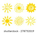 set of hand drawn sun icons.... | Shutterstock .eps vector #278752019