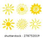 Set Of Hand Drawn Sun Icons....