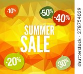 summer offer stickers with... | Shutterstock .eps vector #278754029