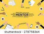 vector mentor concept  template  | Shutterstock .eps vector #278758364