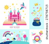 fairy tale book concept with... | Shutterstock .eps vector #278758715