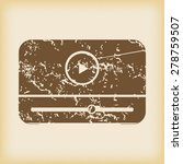 grungy brown icon with image of ... | Shutterstock .eps vector #278759507