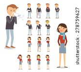 sick people characters set with ... | Shutterstock .eps vector #278759627