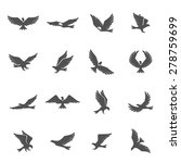 different eagle birds spreding...   Shutterstock .eps vector #278759699
