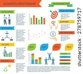 mentoring infographics set with ... | Shutterstock .eps vector #278759717