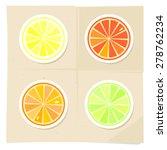 lemon  lime  grapefruit  orange.... | Shutterstock .eps vector #278762234