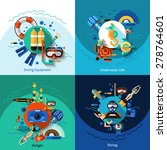 diving design concept set with... | Shutterstock .eps vector #278764601