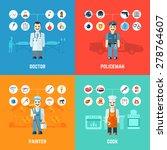 profession design concept set... | Shutterstock .eps vector #278764607