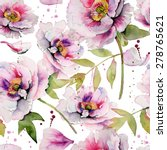 seamless floral pattern with...   Shutterstock . vector #278765621