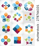 collection of infographic... | Shutterstock .eps vector #278766101